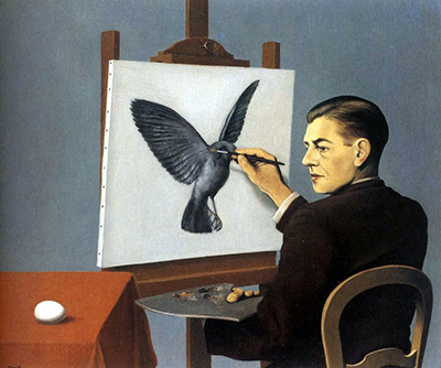 Clairvoyance (Self Portrait) Rene Magritte